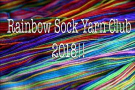 2018 Rainbow Sock Yarn Club!!