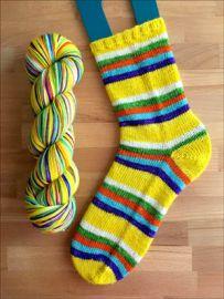 .'Eternal Sunshine' Vesper Sock Yarn DYED TO ORDER