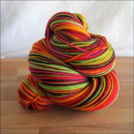 'Holiday Boogie Woogie' Vesper Sock Yarn DYED TO ORDER