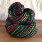 """Jingle All The Way"" Vesper Sock Yarn DYED TO ORDER"