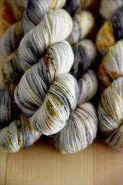 'Moody Harvest Sky' Bespeckled Vesper Sock Yarn