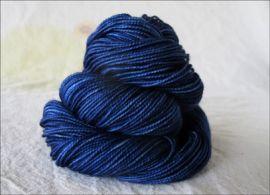 'Blitz Blue' Semi Solid Vesper Sock Yarn DYED TO ORDER