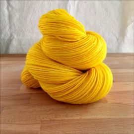 """.""""Lasso of Truth Yellow"""" Semi-Solid Vesper Sock Yarn DYED TO ORDER"""