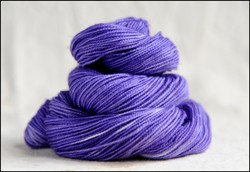 """Violet"" Semi-Solid Vesper Sock Yarn Heel and Toe DYED TO ORDER"