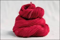 'Cherry Red' IN STOCK  'Thick Sock' Vesper Sock Yarn