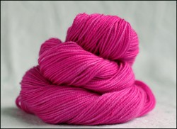 """Magenta"" Semi-Solid Vesper Sock Yarn DYED TO ORDER"