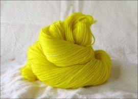 'Pure Yellow' IN STOCK  'Thick Sock' Vesper Sock Yarn