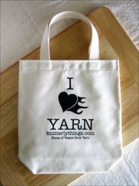 """I """"Heart"""" Yarn Bag"""