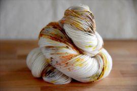 'Pumpkin Pie Spice' IN STOCK Bespeckled MCN Vesper Sock Yarn