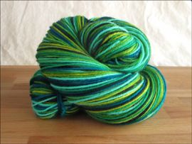 'I Heart Green'  Vesper Sock Yarn DYED TO ORDER