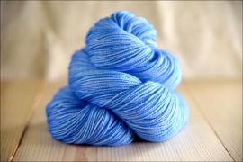 'Periwinkle' May 2019 Semi-Solid Vesper Sock Yarn DYED TO ORDER