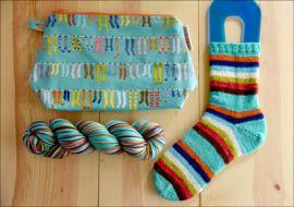 """Sky's the Limit"" Yarn and Knitting Bag Combo! DYED TO ORDER"
