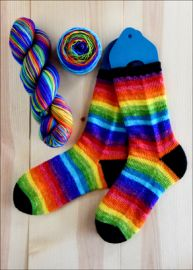 .'Absolute Rainbow' Vesper Sock Yarn DYED TO ORDER