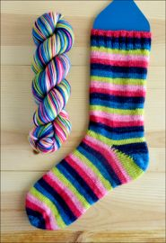 'Bold and Beautiful' Vesper Sock Yarn DYED TO ORDER