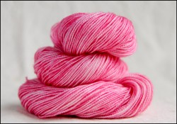 'Pink' Semi-Solid Vesper Sock Yarn DYED TO ORDER