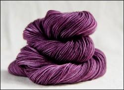 'Plum' Semi-Solid Vesper Sock Yarn DYED TO ORDER